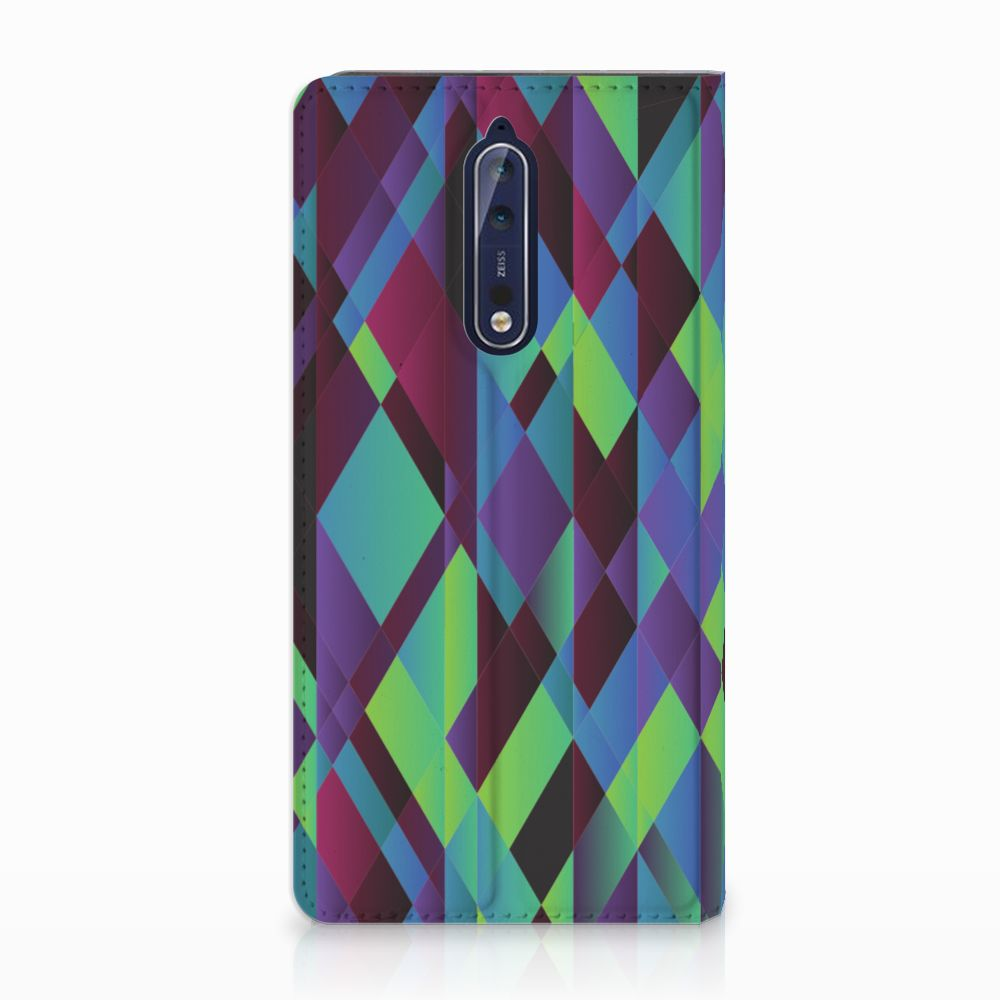 Nokia 8 Stand Case Abstract Green Blue