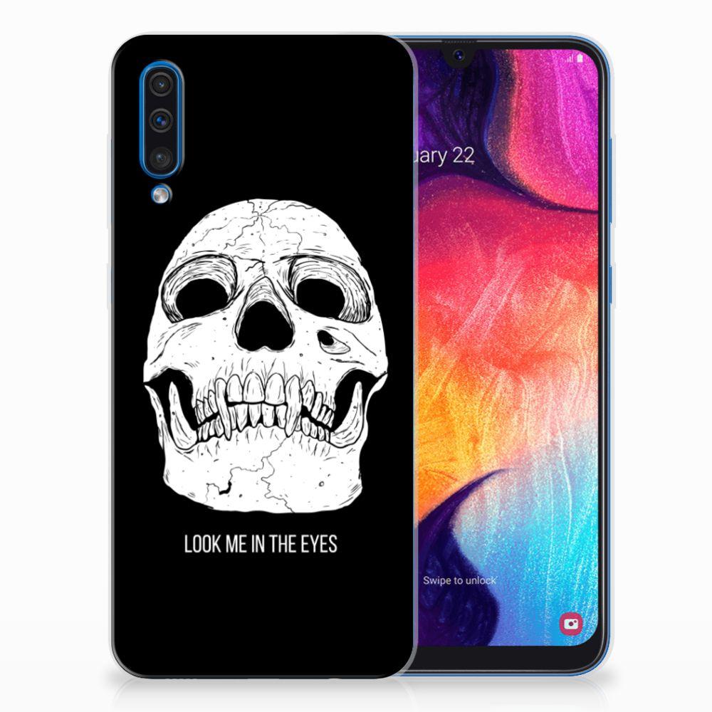 Silicone Back Case Samsung Galaxy A50 Skull Eyes