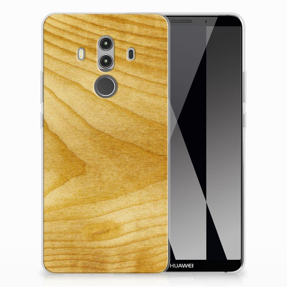 Huawei Mate 10 Pro Uniek TPU Hoesje Licht Hout