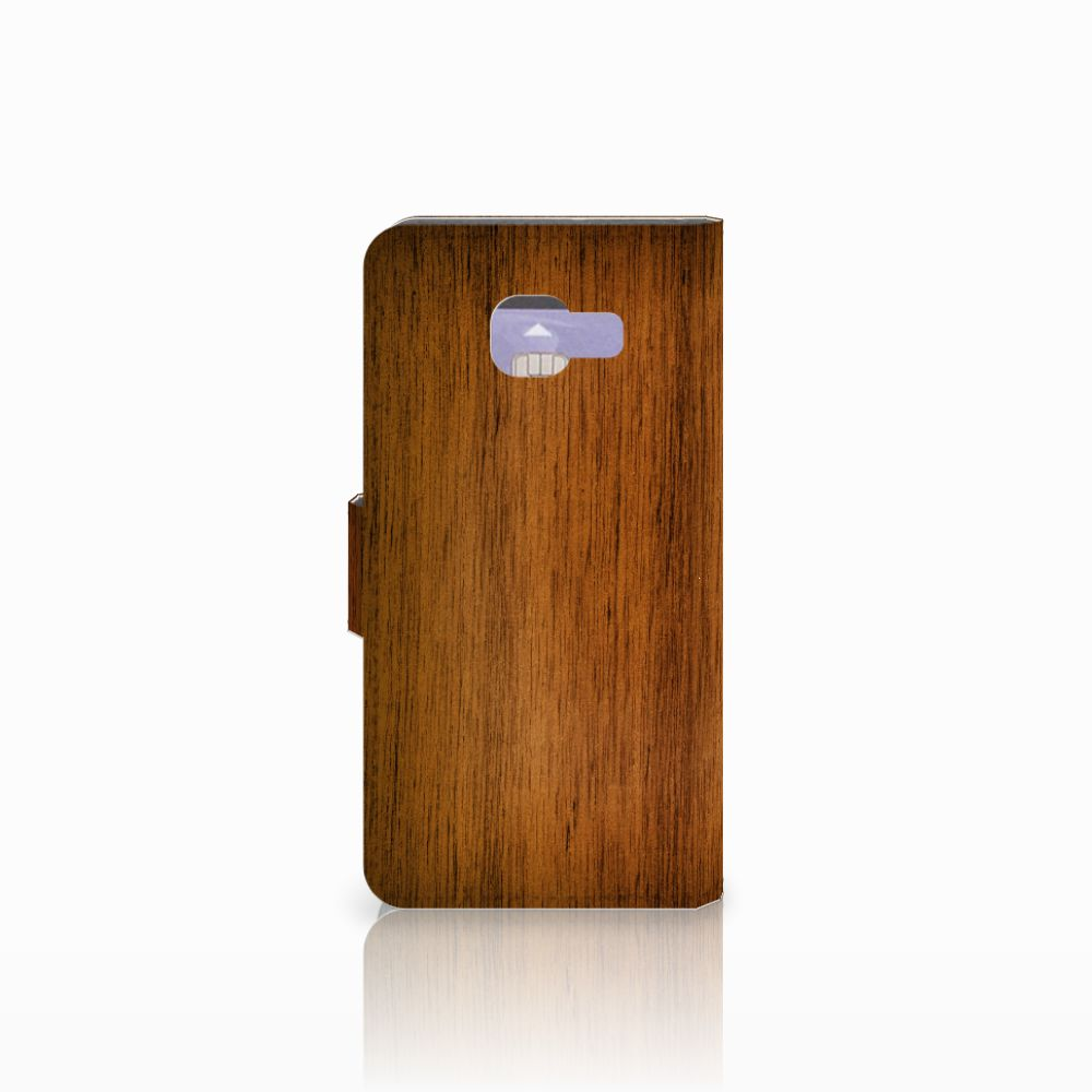 Samsung Galaxy A3 2016 Book Style Case Donker Hout