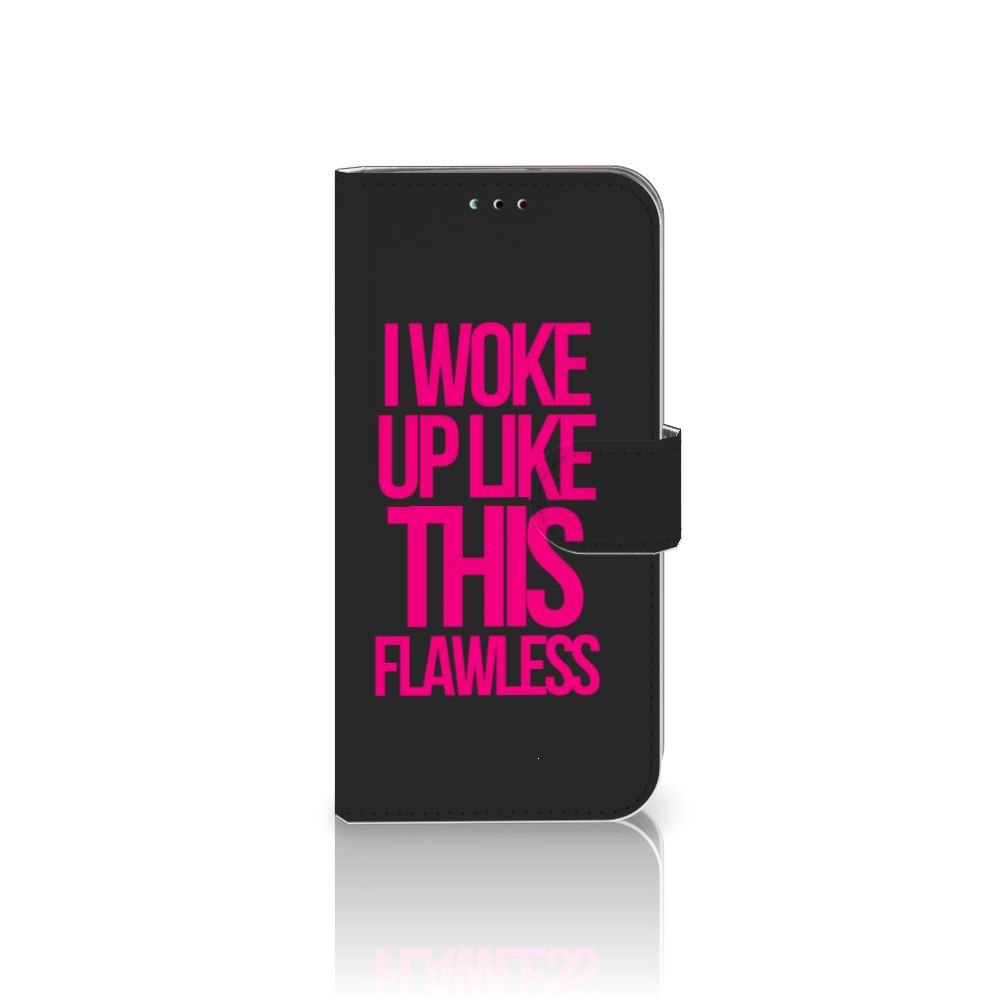 Samsung Galaxy A40 Hoesje met naam Woke Up - Origineel Cadeau Zelf Maken