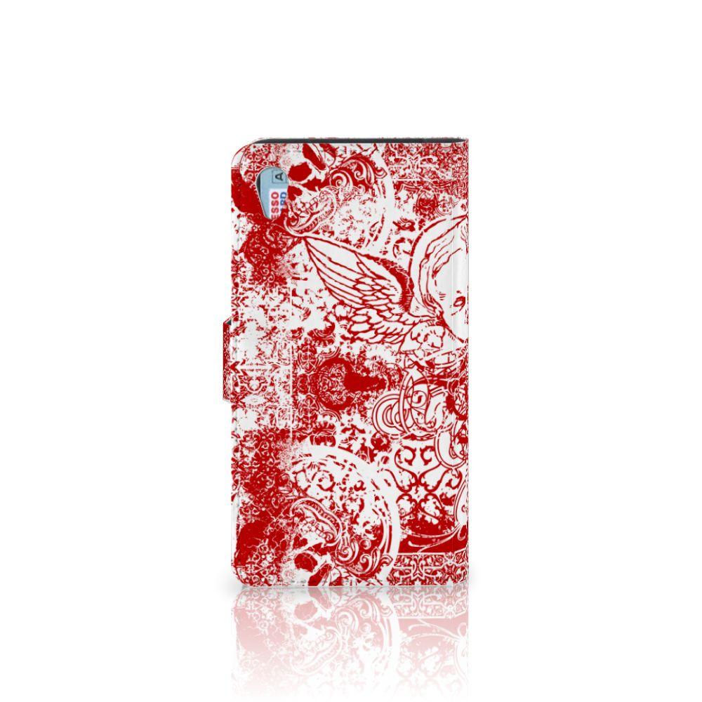 Telefoonhoesje met Naam Sony Xperia Z3 Angel Skull Rood