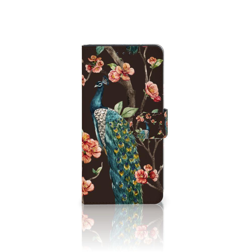 Samsung Galaxy A7 (2018) Boekhoesje Design Pauw met Bloemen