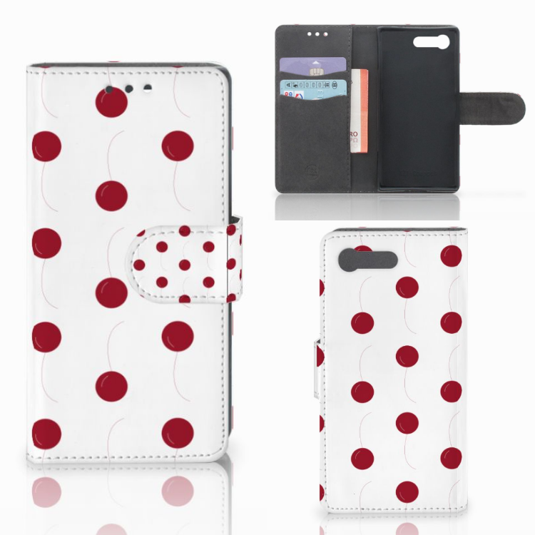 Sony Xperia X Compact Book Cover Cherries