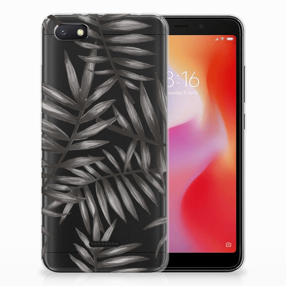 Xiaomi Redmi 6A Uniek TPU Hoesje Leaves Grey