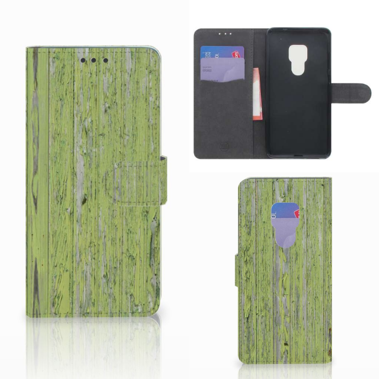 Huawei Mate 20 Book Style Case Green Wood