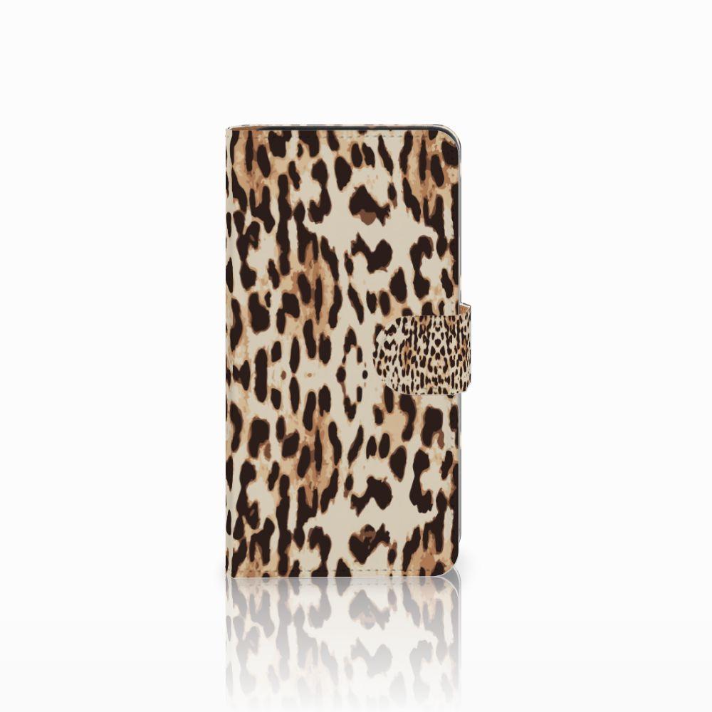 Wiko Lenny 3 Uniek Boekhoesje Leopard
