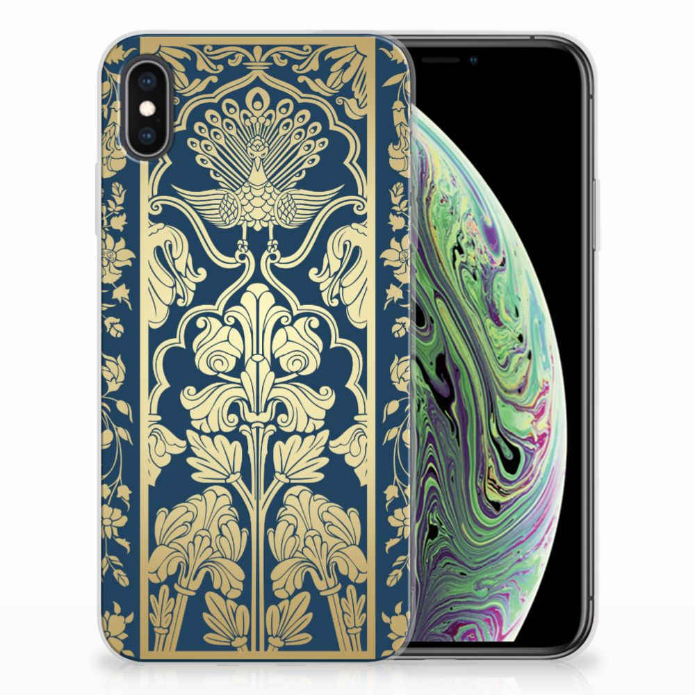 Apple iPhone Xs Max TPU Case Golden Flowers