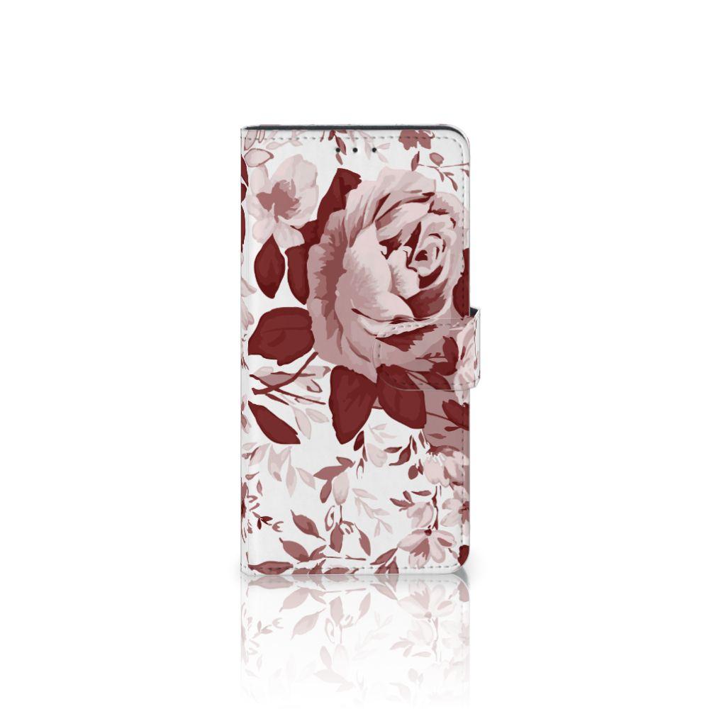 Motorola Moto Z Play Uniek Boekhoesje Watercolor Flowers