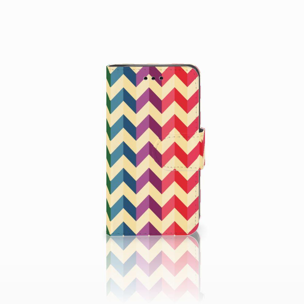 Samsung Galaxy Trend 2 Uniek Boekhoesje Zigzag Color