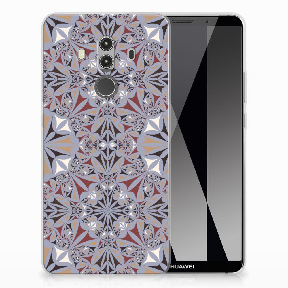 Huawei Mate 10 Pro TPU Siliconen Hoesje Flower Tiles