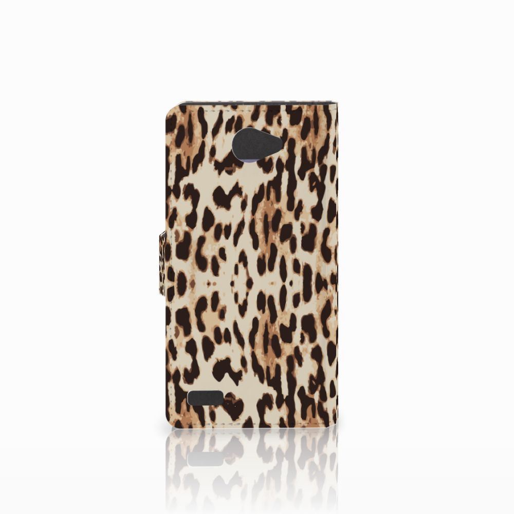 LG Bello 2 Telefoonhoesje met Pasjes Leopard