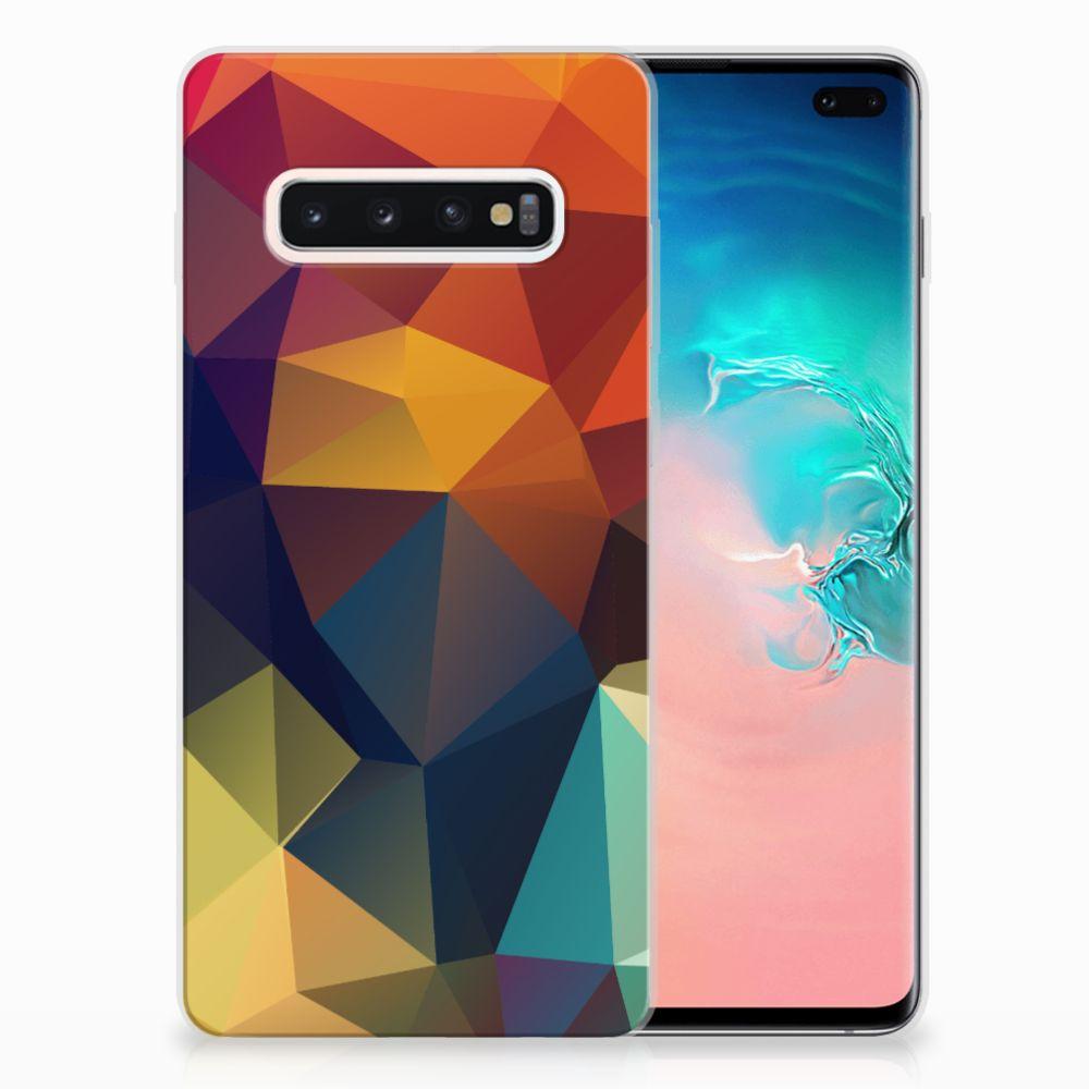Samsung Galaxy S10 Plus TPU Hoesje Polygon Color