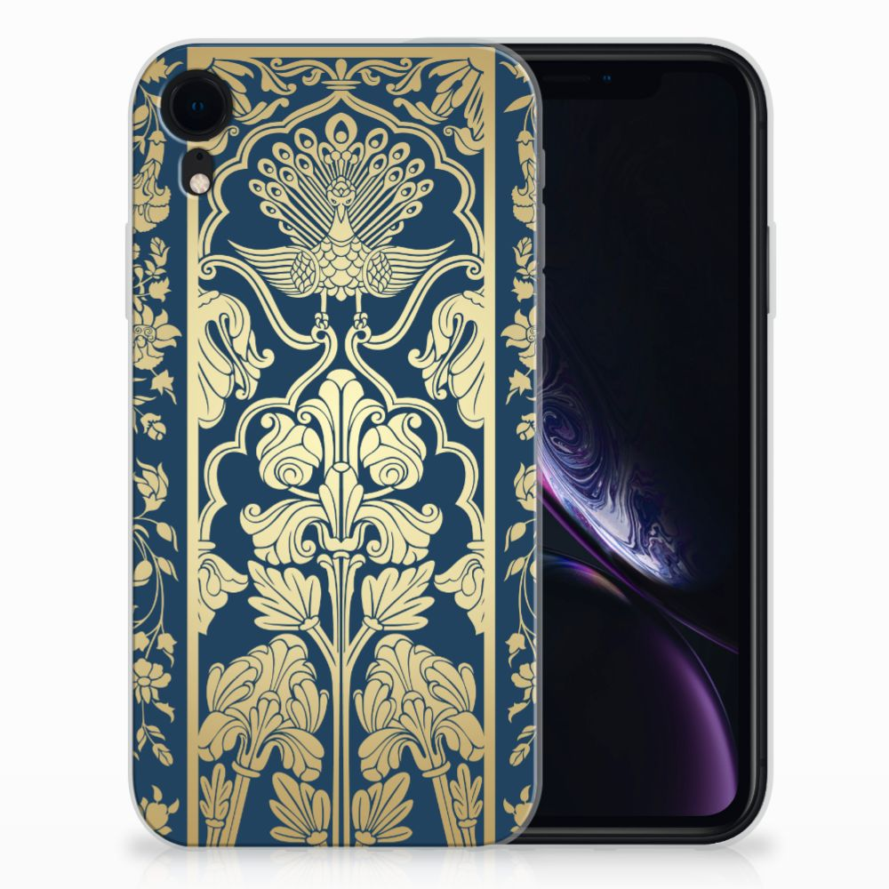 Apple iPhone Xr TPU Case Golden Flowers