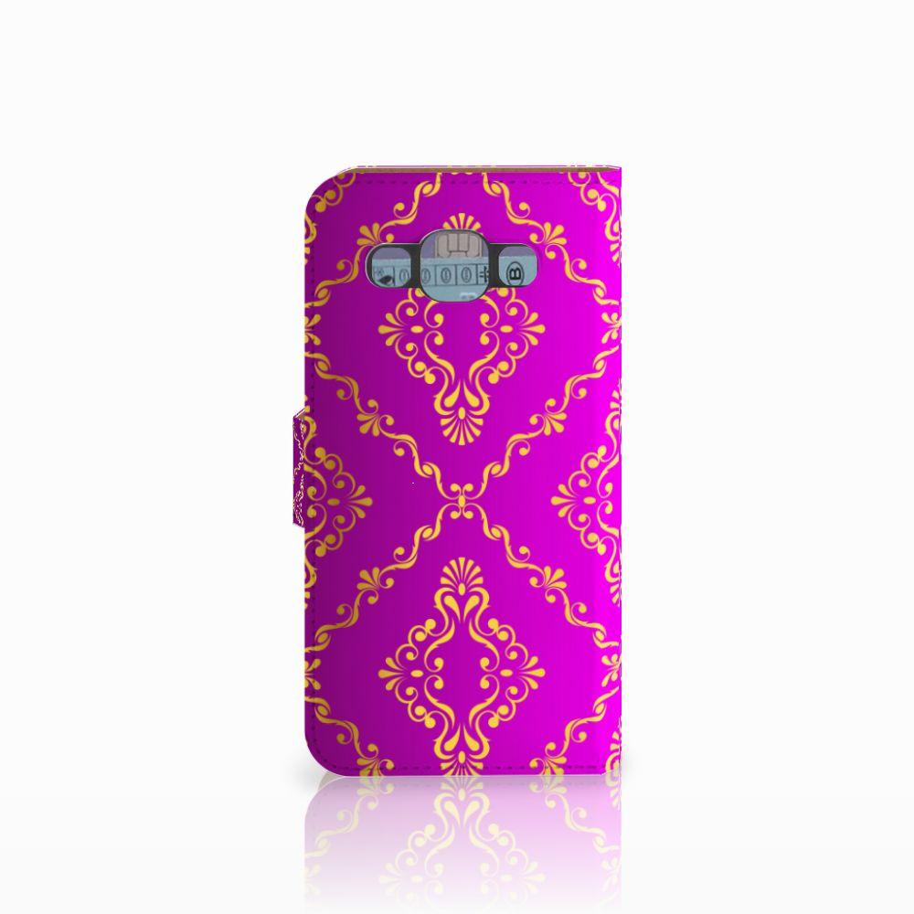 Wallet Case Samsung Galaxy E5 Barok Roze