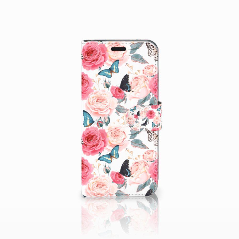 Acer Liquid Z630 | Z630s Uniek Boekhoesje Butterfly Roses