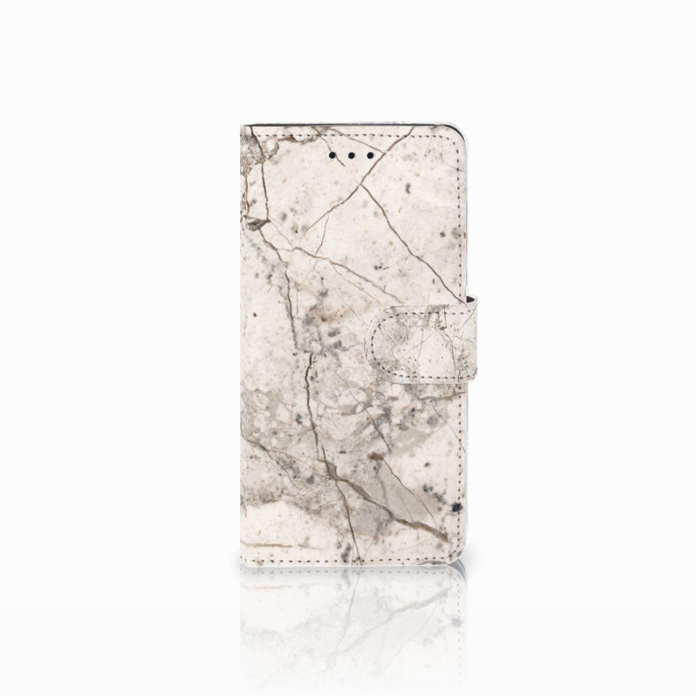 Huawei Y5 2018 Boekhoesje Design Marmer Beige