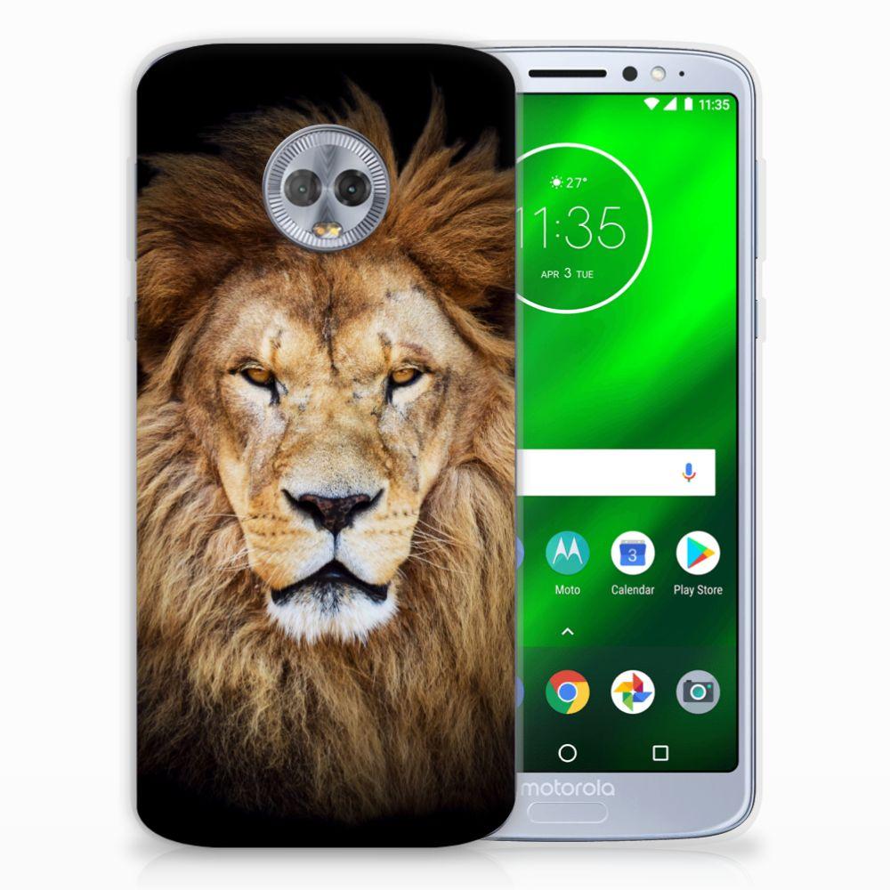 Motorola Moto G6 Plus TPU Hoesje Leeuw