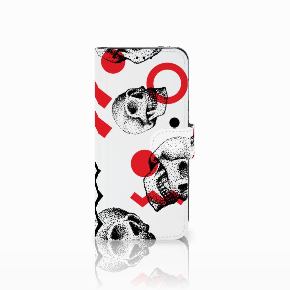 Huawei P20 Lite Boekhoesje Design Skull Red