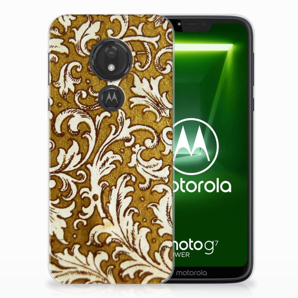 Motorola Moto G7 Power TPU Hoesje Design Barok Goud