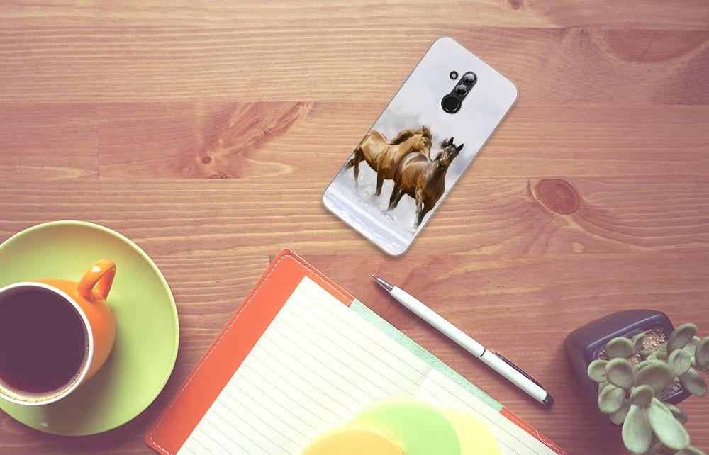 Huawei Mate 20 Lite Uniek TPU Hoesje Paarden