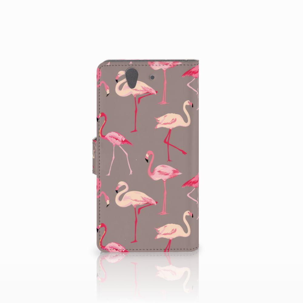 Sony Xperia Z Telefoonhoesje met Pasjes Flamingo