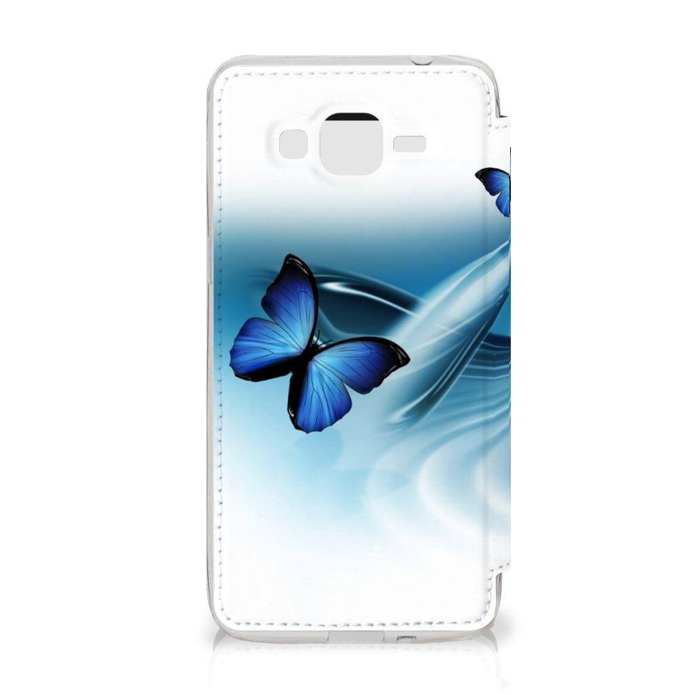Samsung Galaxy Grand Prime Telefoonhoesje met Pasjes Vlinders