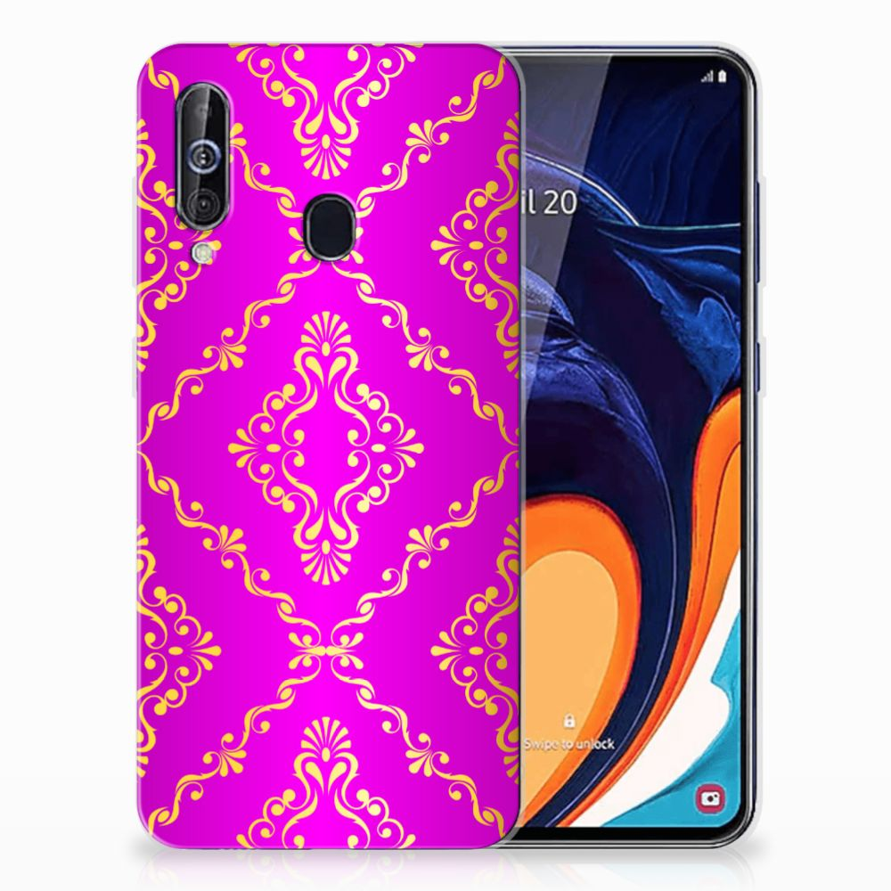 Siliconen Hoesje Samsung Galaxy A60 Barok Roze