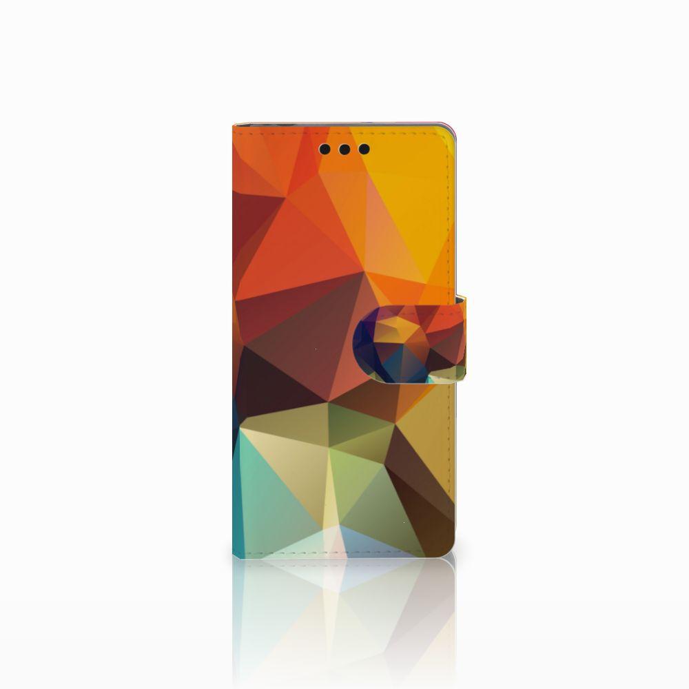 Sony Xperia M4 Aqua Bookcase Polygon Color