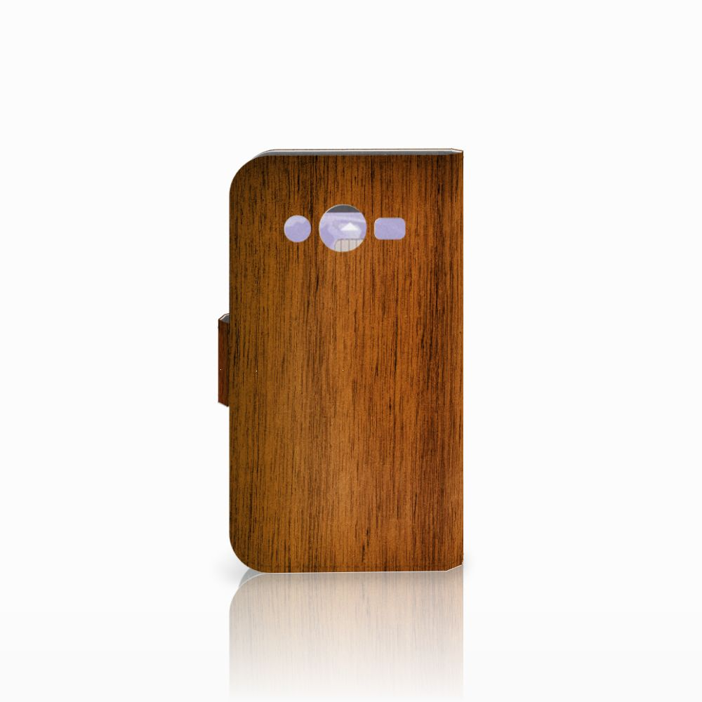 Samsung Galaxy Core 2 Book Style Case Donker Hout