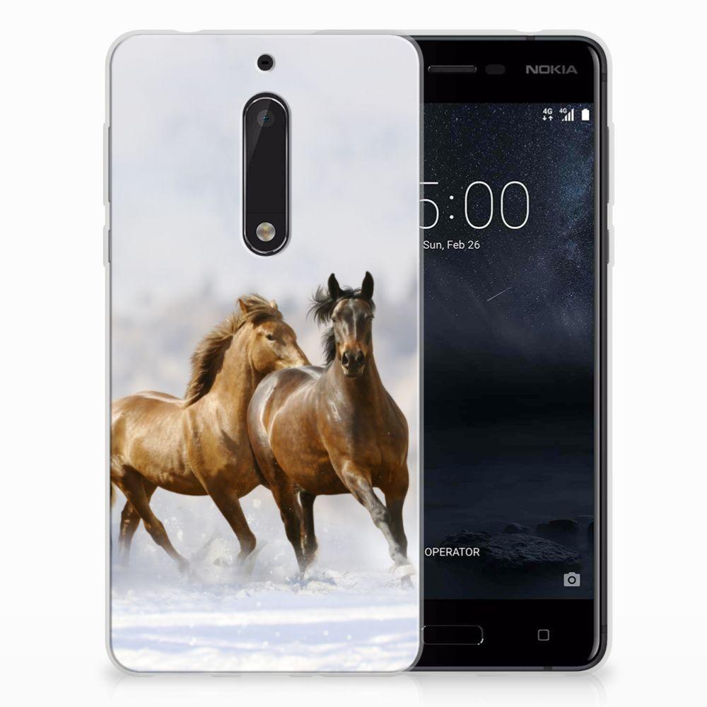 Nokia 5 TPU Hoesje Paarden