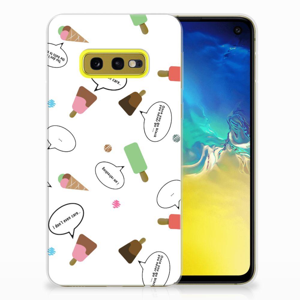 Samsung Galaxy S10e Siliconen Case IJsjes