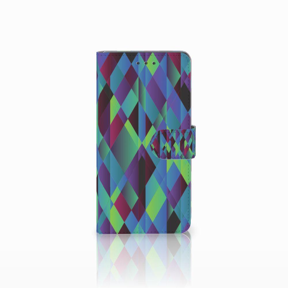Huawei Mate 8 Boekhoesje Design Abstract Green Blue