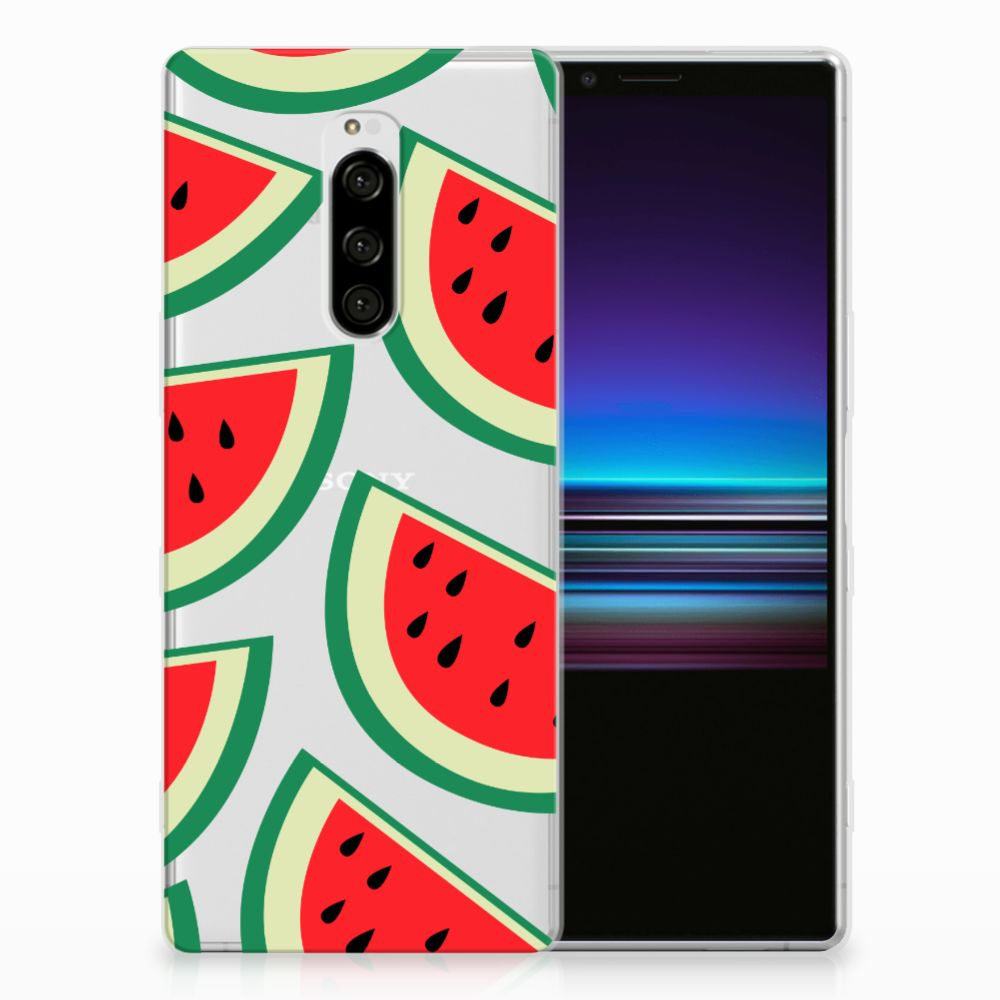 Sony Xperia 1 Siliconen Case Watermelons