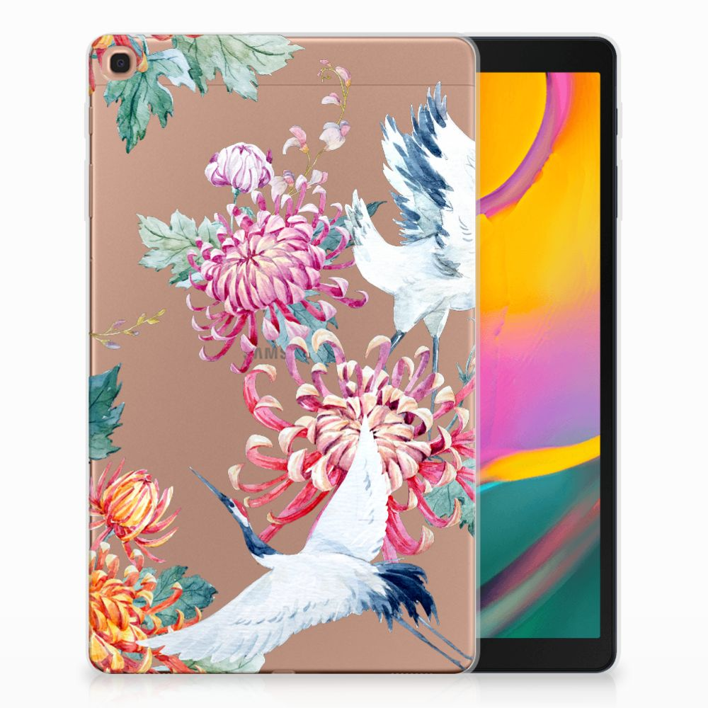 Samsung Galaxy Tab A 10.1 (2019) Back Case Bird Flowers