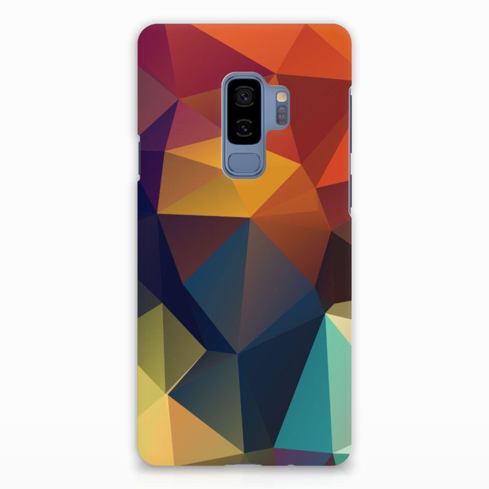Samsung Galaxy S9 Plus Rubber Case Polygon Color