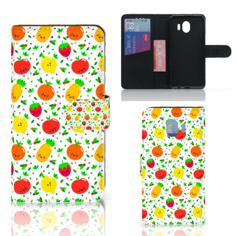 Samsung Galaxy J4 2018 Book Cover Fruits