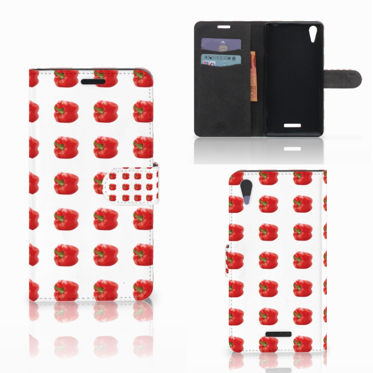 Sony Xperia T3 Book Cover Paprika Red