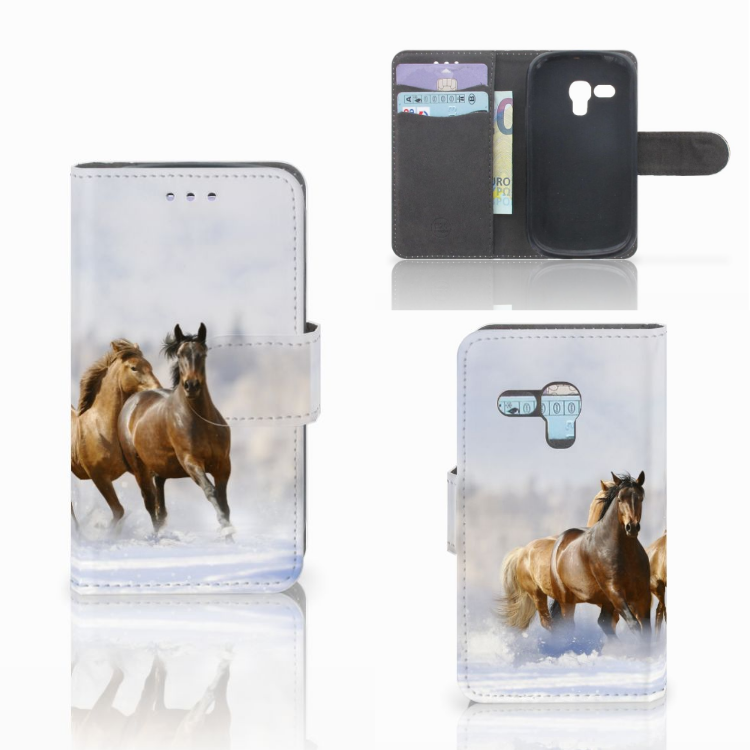 Samsung Galaxy S3 Mini Telefoonhoesje met Pasjes Paarden