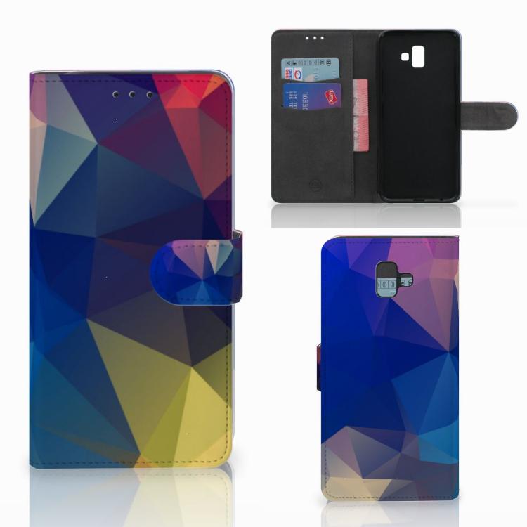 Samsung Galaxy J6 Plus (2018) Bookcase Polygon Dark