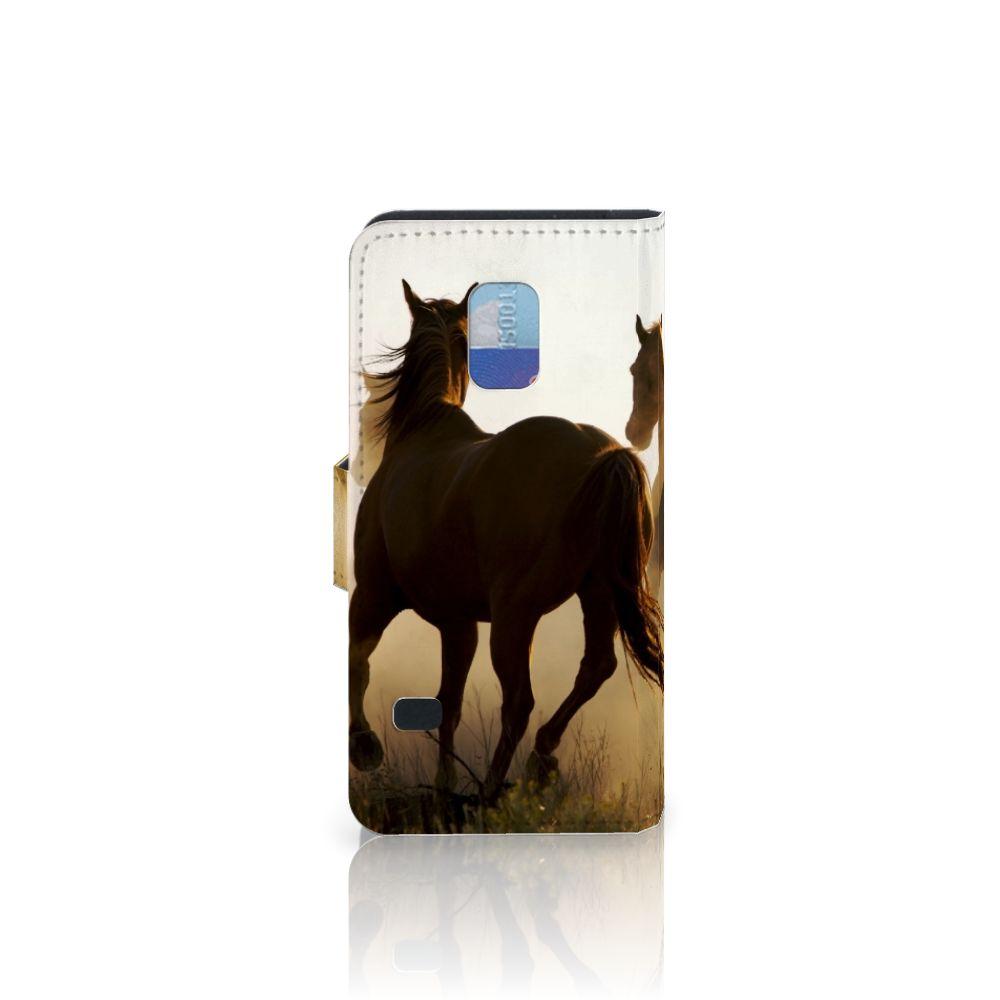 Samsung Galaxy S5 Mini Telefoonhoesje met Pasjes Design Cowboy