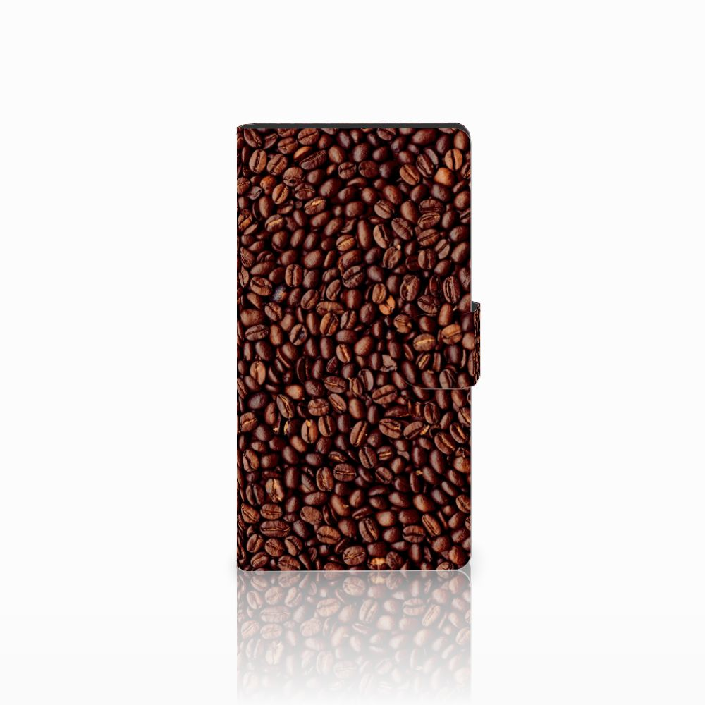 Sony Xperia C4 Uniek Boekhoesje Koffiebonen