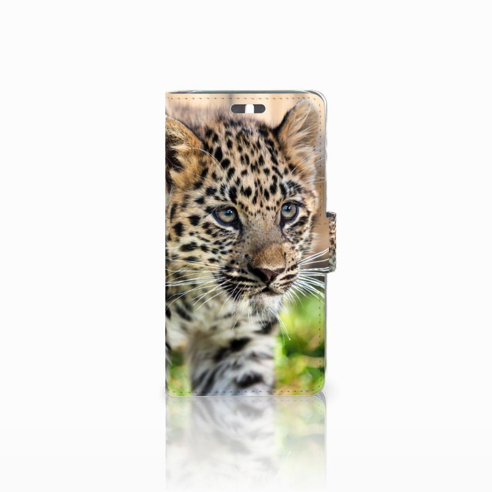 Huawei Y625 Telefoonhoesje met Pasjes Baby Luipaard