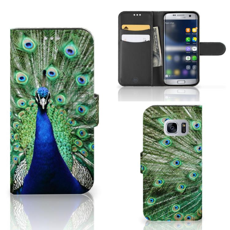 Samsung Galaxy S7 Telefoonhoesje met Pasjes Pauw