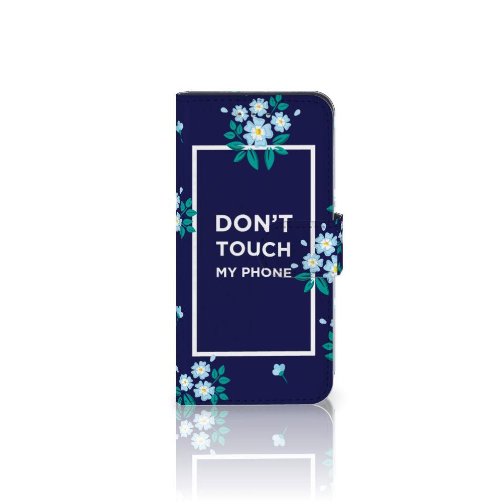 Samsung Galaxy S6 | S6 Duos Boekhoesje Flowers Blue DTMP