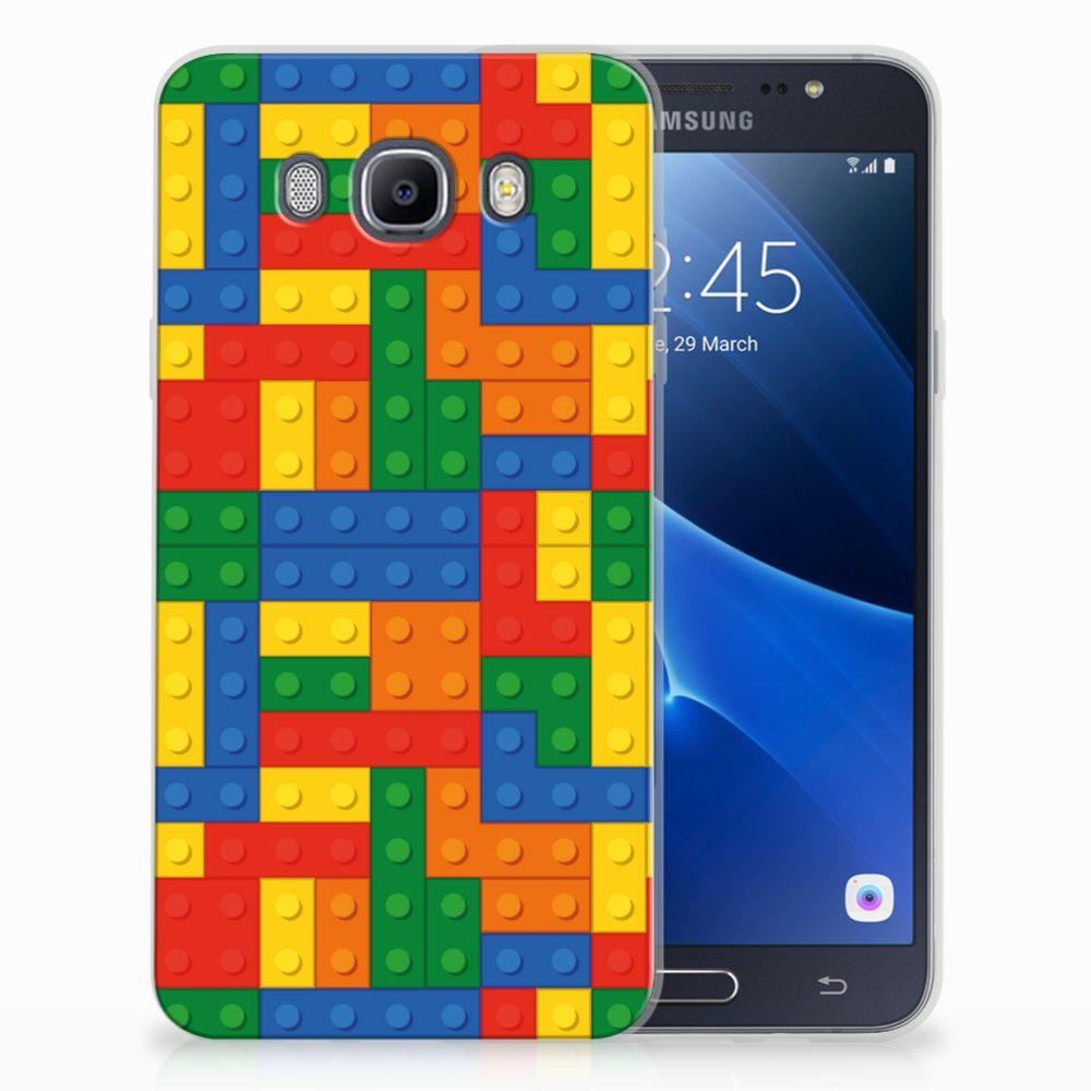 Samsung Galaxy J7 2016 TPU Hoesje Design Blokken