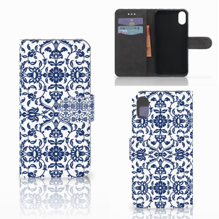 Apple iPhone X | Xs Hoesje Flower Blue