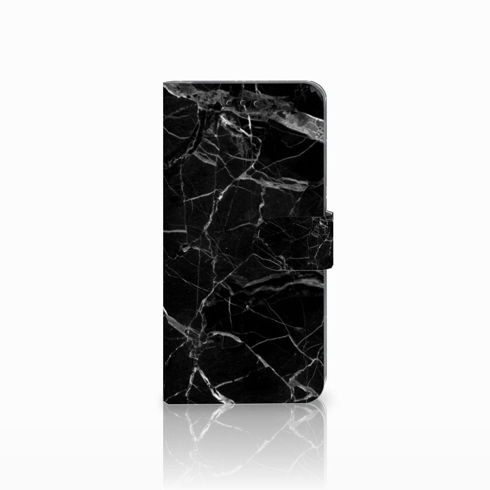 Samsung Galaxy A6 Plus 2018 Uniek Boekhoesje Marmer Zwart