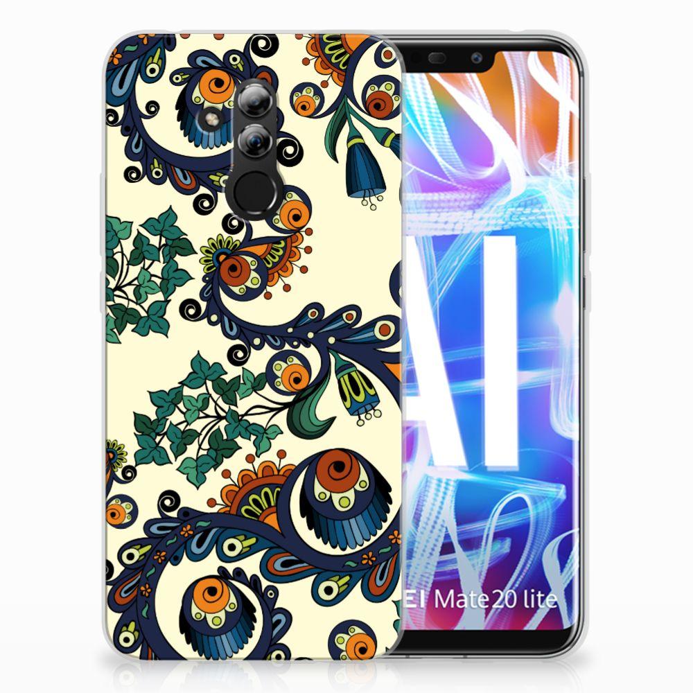 Siliconen Hoesje Huawei Mate 20 Lite Barok Flower