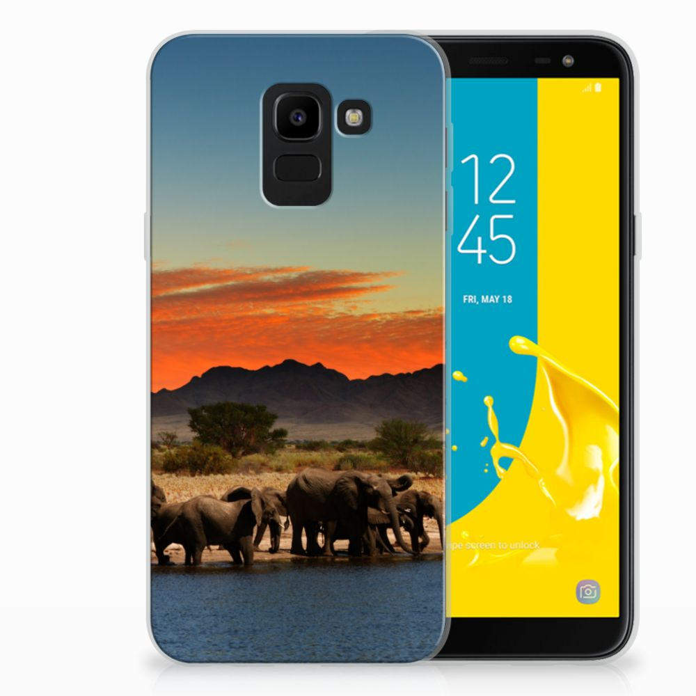 Samsung Galaxy J6 2018 TPU Hoesje Design Olifanten